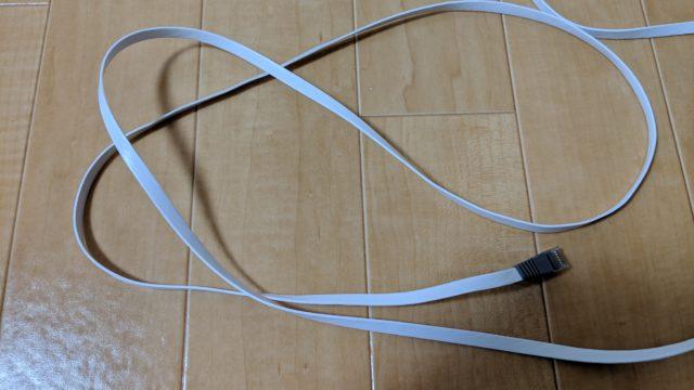 光BBユニットに同梱されている灰色のLANケーブル