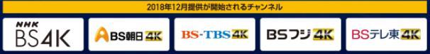 ソフトバンク光テレビの4Kチャンネルラインナップ1